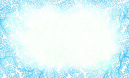 Belle trame bleue modelée florale Photos libres de droits