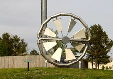Belle turbine mécanique isolée de systèmes de gaz Image stock