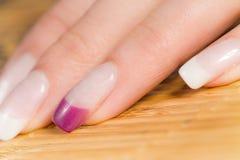 Belle unghie femminili Immagine Stock Libera da Diritti