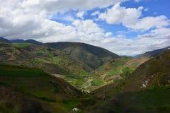 Belle vallée à la visibilité directe Paramos, Mérida, Venezuela Photographie stock