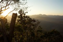 Belle vallée de coucher du soleil photos libres de droits