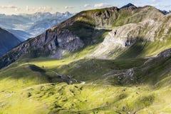 belle vallée de montagne Images libres de droits