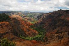 Belle vallée en Hawaï Photo stock