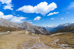 Belle vallée sur le point de vue élevé Photo libre de droits