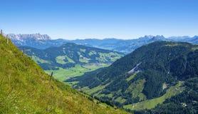 Belle valle di Bressanone ed alpi di Kitzbuhel, Austria Immagine Stock