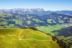 Belle valle di Bressanone ed alpi di Kitzbuhel, Austria Fotografia Stock Libera da Diritti