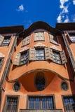 Belle vecchie case, dettaglio architettonico immagine stock