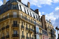Belle vecchie costruzioni di Parigi Fotografia Stock Libera da Diritti