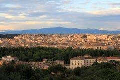 Belle vecchie finestre a Roma (Italia) Fotografie Stock