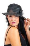 Belle verticale de femme élégante photographie stock libre de droits