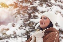 Belle verticale de femme de l'hiver photos libres de droits