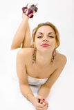 belle verticale de fille Image libre de droits