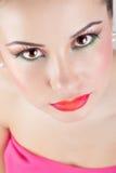 Belle verticale de fille, avec la peau propre. Photographie stock