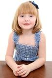 Belle verticale de fille de 4 ans Images stock