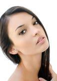 belle verticale de fille de brunette Photo stock