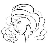 Belle verticale de fille. illustration. Photo stock