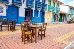 Belle vieille reproduction de ville, Guatape, Colombie Image libre de droits