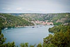 Belle ville dalmatienne Skradin photographie stock libre de droits