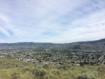 Belle ville de Kamloops Images stock