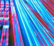 Belle ville de nuit dans le mouvement Photographie stock libre de droits