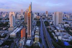 Belle ville de point de vue de Bangkok photographie stock libre de droits