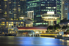 Belle ville de point de vue de Marina Bay Sands Photos stock
