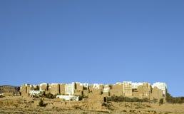 Belle ville de SHIBAM dans le désert dans le Hadramaut Yémen Photographie stock