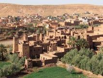 Belle ville Ksar d'Ait Ben Haddou au centre Maroc image libre de droits