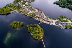 belle ville lithuanienne Trakai de l'Europe, aérien photos libres de droits