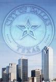 Belle ville moderne de Dallas images libres de droits