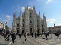 Belle viste al duomo di Milano immagini stock
