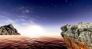 Belle viste del mare Immagini Stock