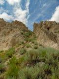 Belle viste del parco nazionale dei calanchi fotografie stock libere da diritti