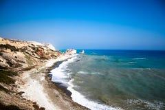 Belle viste della linea costiera Fotografie Stock