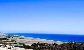 Belle viste della linea costiera Fotografia Stock