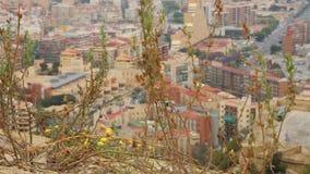 Belle viste di Alicante Costa Blanca stock footage