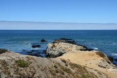 Belle viste di oceano lungo la costa del Pacifico, CA, U.S.A. Immagine Stock Libera da Diritti