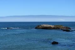 Belle viste di oceano lungo la costa del Pacifico, CA, U.S.A. Immagini Stock