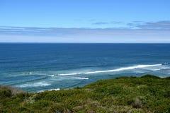 Belle viste di oceano lungo la costa del Pacifico, CA, U.S.A. Immagini Stock Libere da Diritti