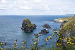 Belle viste sopra le rocce costiere Fotografia Stock Libera da Diritti