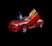 Belle voiture de sport rouge photographie stock