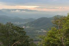 Belle vue à la colline de broga, Malaisie Photographie stock