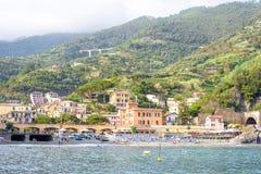 Belle vue à la plage de jument d'Al de Monterosso Photographie stock