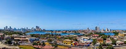 Belle vue aérienne de Carthagène, Colombie Image stock