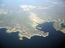 Belle vue aérienne de la digue Salta Argentine Amérique du Sud de corral de Cabra Image libre de droits
