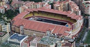 Belle vue aérienne de Stade Louis II et Fontvieille clips vidéos