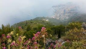 Belle vue aérienne du Monaco de la montagne clips vidéos