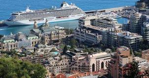 Belle vue aérienne du Monaco Monte Carlo clips vidéos