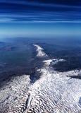 Belle vue aérienne sur la gamme de montagne Images stock