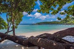 Belle vue au-dessus de la mer de Sumatra photographie stock